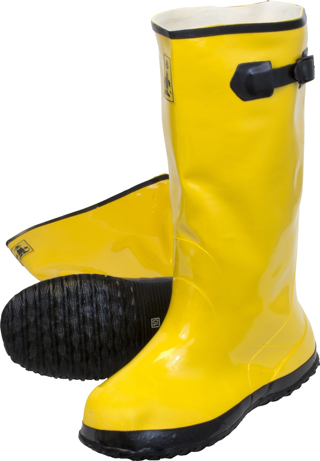Yellow Slush Boots, Sold by the Pair, Size 12