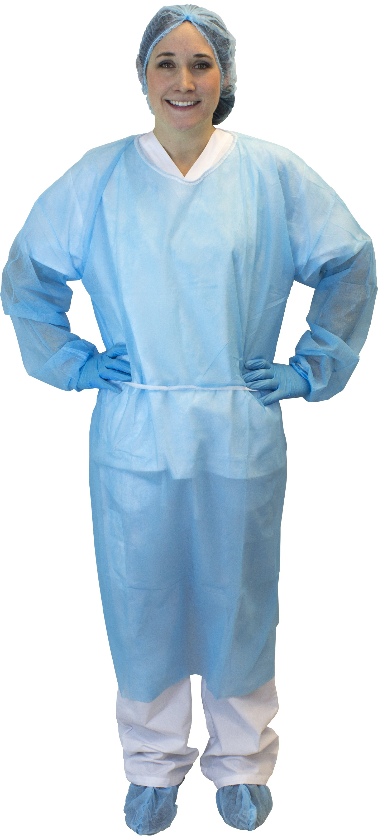 Blue Polypropylene Isolation Gown