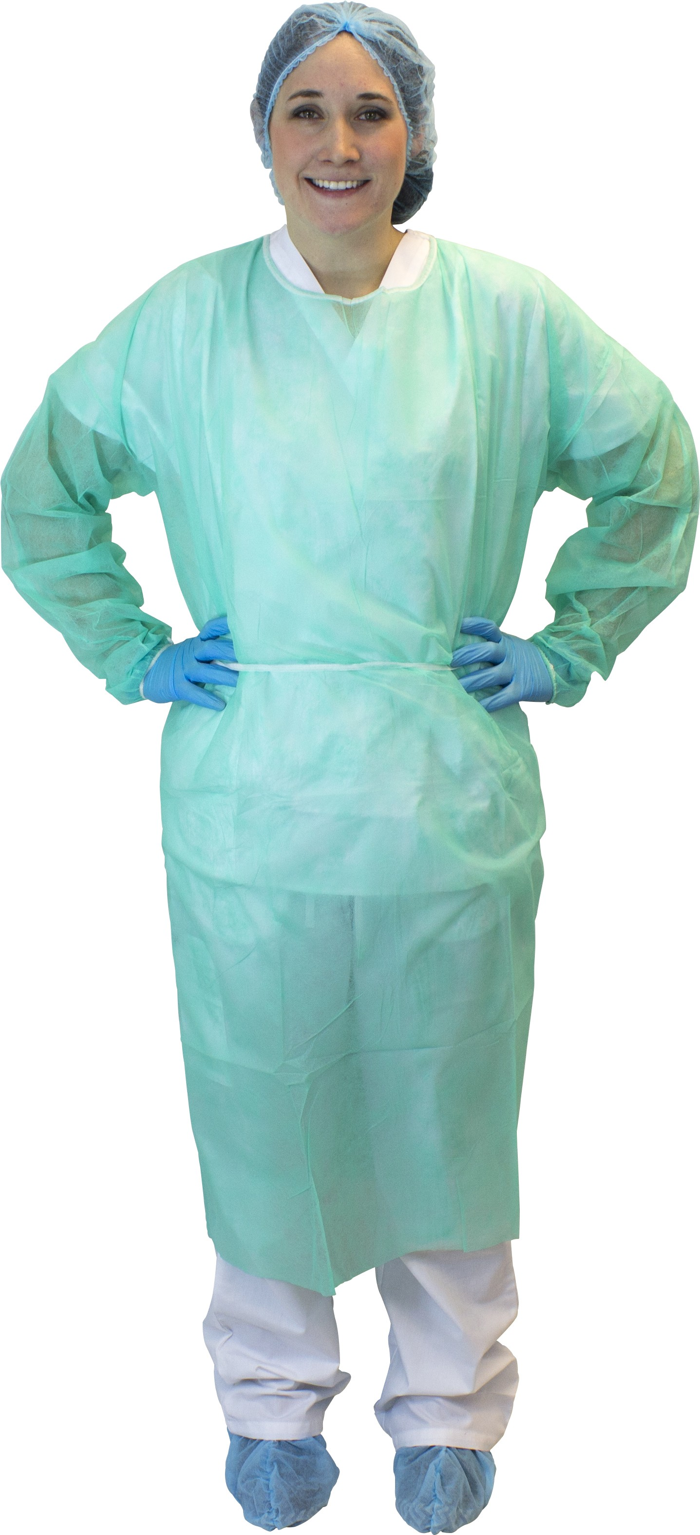 Green Polypropylene Isolation Gown