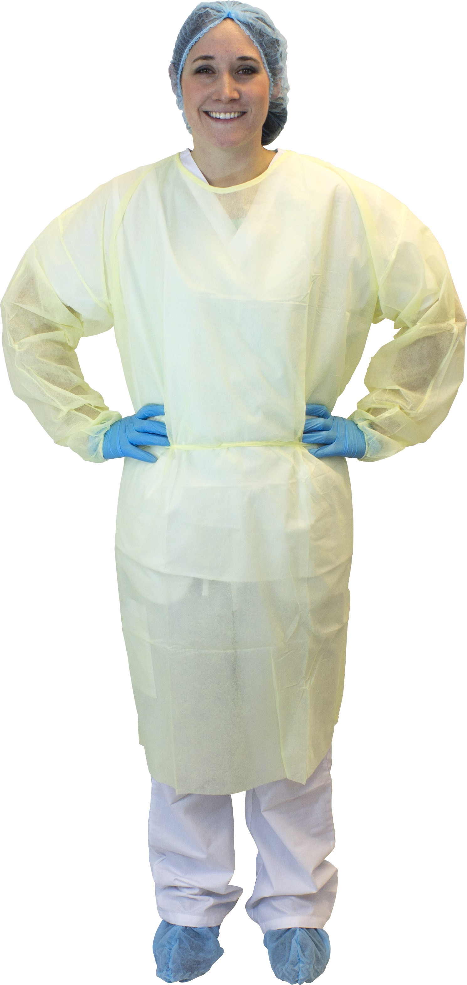 Yellow Polypropylene Isolation Gown