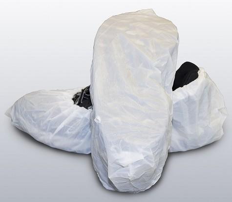 "White Cast Polyethylene ""CPE"" Shoe Cover"