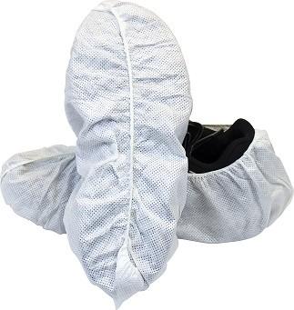 White 50 Gram SMS Polypropylene Disposable Shoe Cover