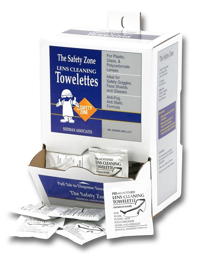 Safety Zone Pre Moistened Anti-Fog Lens Cleaning Towelettes
