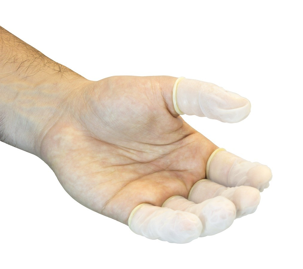 Powder Free Latex Finger Cots, 5 Gross Per Bag, (720/BG)