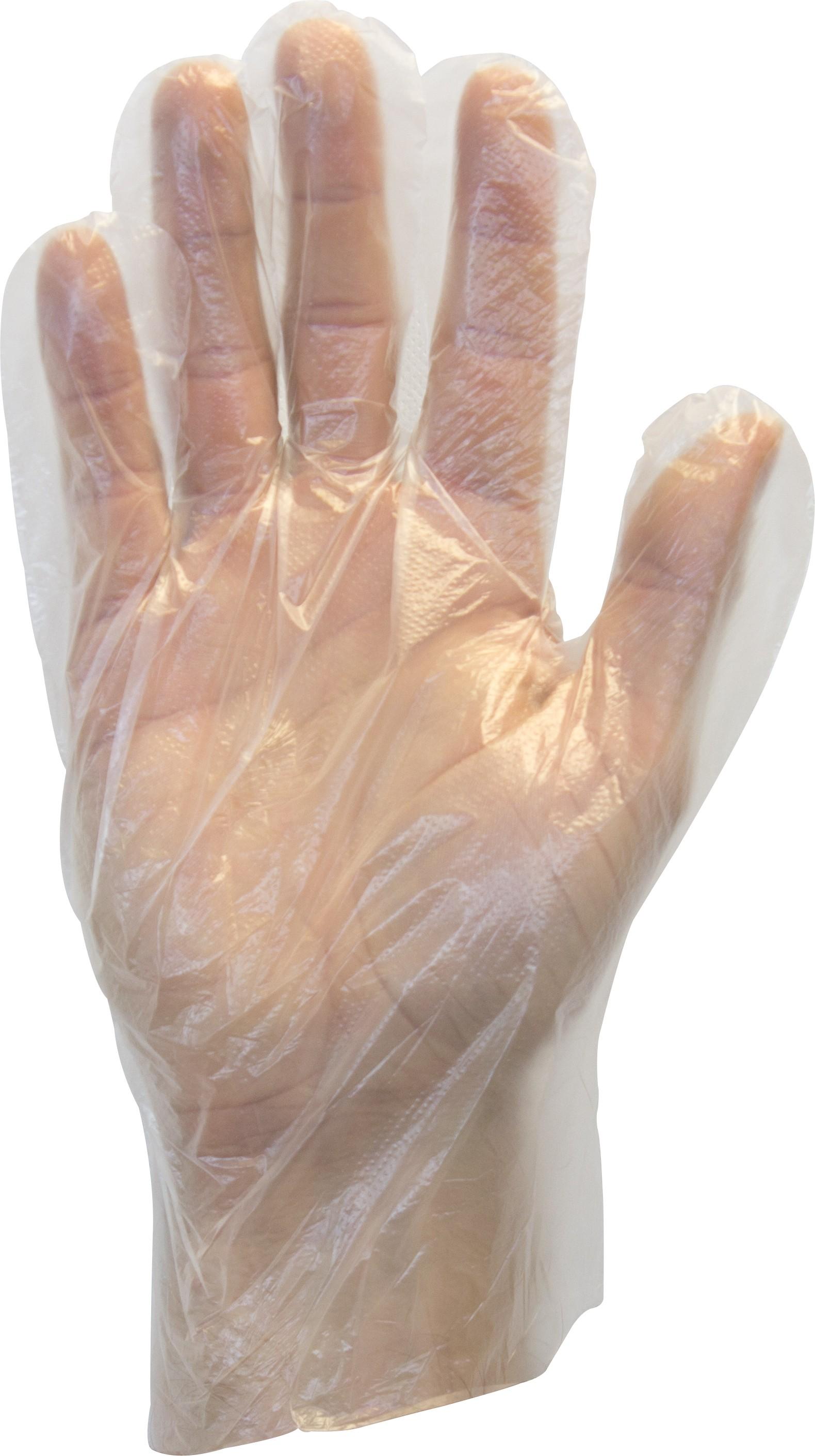 Economy Clear High Density Polyethylene Glove