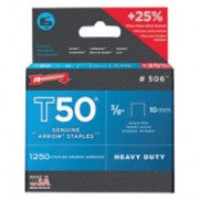 (PACK/1250) STAPLES 3/8IN 10MM T-50