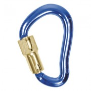 CARABINER 19MM THROAT  3600LB GATE ALUM D BLUE