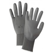 GRAY PU PALM COATED GRAYNYLON GLOVES