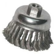 """ANCHOR 2-3/4"""" KNOT CUP BRUSH .0144 SS 5/8-11 RET"""
