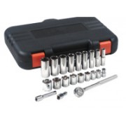 "25 PIECE 1/2"" DR. SAE SOCKET SET 12 PT."