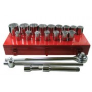 "21 PIECE 3/4"" DR. SAE SOCKET SET 12 PT"