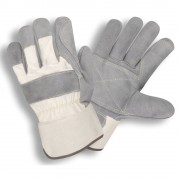 SIDE SPLIT, DOUBLE PALM, WHITE CANVAS BACK, RUBBERIZED SAFETY CUFF, ARAMID SEWN,