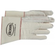 WHITE DOUBLE PALM NAP OUT GLOVE RUBBERIZED