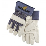 MUSTANG GRAIN LEATHER PALM GLOVES W/2-