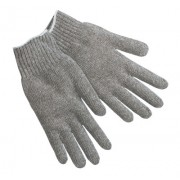 COTTON/POLYESTER KNIT GLOVE NATURAL LARGE