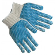 REG COT/POLY  BLUE PVC DOTS