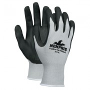 GRAY SHELL  BLACK FOAM NITRILE  13 GAUGE
