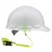 COIL HARD HAT LANYARD WITH BUCKLE LIME