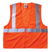 ECONOMY VEST CLASS II MESH ZIPPER ORANGE 2XL/3XL