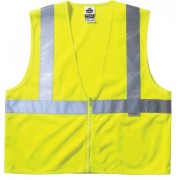 LIME STD VEST MESH ZIP
