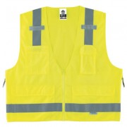 GLOWEAR 8250Z CLASS 2 SURVEYOR VEST LIME S/M