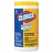 CLOROX DISINFECTING WIPES LEMON /35 COUNT PER TUBE/ 12 TUBES PER CASE