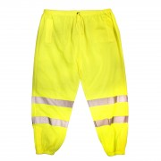 COR-BRITE™ CLASS E, LIME MESH PANTS, 2-INCH SILVER REFLECTIVE TAPE, ELASTIC WAIST WITH DRAWSTRING AND BARREL CLOSURE, HOOK & LOOP ANKLE CLOSURES, BACK POCKET