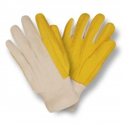 YELLOW CHORE WITH CANVAS BACK, KNIT WRIST