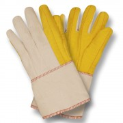 YELLOW CHORE WITH CANVAS BACK, PE GAUNTLET