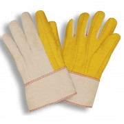 YELLOW CHORE WITH CANVAS BACK, PE SAFETY CUFF
