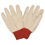 DOUBLE PALM, NAP-IN, RED KNIT WRIST, ECONOMY WEIGHT