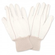 CORDED DOUBLE PALM, NAP-IN, NATURAL, 100% COTTON, KNIT WRIST