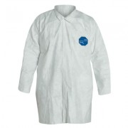 TYVEK LAB COAT  SNAP FRONT