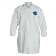 TYVEK LAB COAT SNAP FRONT ELASTIC WRISTS