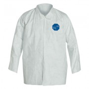 TYVEK COVERALL SHIRT SNAP FRONT LONG SLEEVES 2XL
