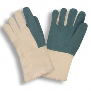 HEAVY WEIGHT, GREEN HOT MILL, BURLAP LINED, 3-PLY, GAUNTLET