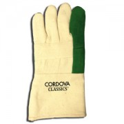 CORDOVA CLASSICS™, PREMIUM, GREEN, HEAVY WEIGHT HOTMILL, 100% COTTON, 3-PLY, BURLAP LINED, GAUNTLET