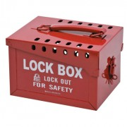 LOCK BOX /LOCKOUT FOR SAFETY RED STEEL