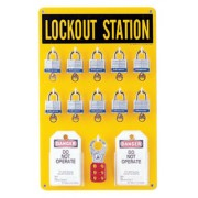 TEN LOCK STATION W/COMPONENTS  BLK/YELLOW