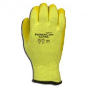 POWER-COR ULTRA™ HI-VIS YELLOW, 10-GAUGE HPPE/STEEL/GLASS SHELL, YELLOW LATEX PALM COATING, ANSI CUT LEVEL 5