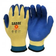 SABRE™, 10-GAUGE, CCT™ CORDOVA CORE TECHNOLOGY SHELL, BLUE LATEX PALM COATING, ANSI CUT LEVEL A5