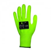 iON-HV™, HI-VIS YELLOW 13-GAUGE HPPE SHELL, HI-VIS YELLOW POLYURETHANE PALM COATING, ANSI CUT LEVEL 4