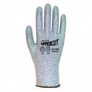 UPPERCUT™, SALT & PEPPER 13-GAUGE HPPE SHELL, GRAY POLYURETHANE PALM COATING, ANSI CUT LEVEL 2