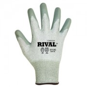 RIVAL™ LIGHT GRAY 13-GAUGE HPPE SHELL, GRAY POLYURETHANE PALM COATING