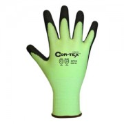 COR-TEX™ HI-VIS LIME 13-GAUGE HPPE PLAITED SHELL, BLACK SANDY NITRILE PALM COATING, ANSI CUT LEVEL 2