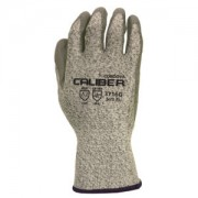 CALIBER™ SALT & PEPPER 13-GAUGE HPPE SHELL, GRAY POLYURETHANE PALM COATING, ANSI CUT LEVEL 2