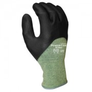 POWER-COR XTRA™, 13-GAUGE KEVLAR®/STEEL, BLACK 3/4 FOAM NITRILE, ANSI CUT LEVEL 4