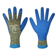 POWER-COR MAX™, 10-GAUGE ARAMID/STEEL/COTTON, BLUE LATEX PALM COATING, ANSI CUT LEVEL 4