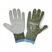 POWER-COR MAX™, 10-GAUGE ARAMID/STEEL/COTTON, SPLIT COWHIDE LEATHER PALM, PIGSKIN FORCHETTES, ANSI CUT LEVEL 4
