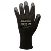 MONARCH-NRL™: 13-GAUGE, BLACK HIGH PERFORMANCE SHELL, BLACK NATURAL RUBBER LATEX PALM COATING, ANSI CUT LEVEL A4